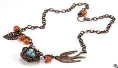 Jewelry Making Idea: Wire Bird Nest Necklace with How-To Pictures (eebeads.com)