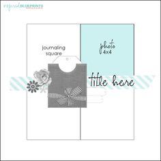 to the full: Inspired Blueprints Sketch Scrapbook Layout Sketches, 12x12 Scrapbook, Scrapbook Templates, Card Sketches, Scrapbooking Layouts, Digital Scrapbooking, Photo Sketch, Photo Layouts, Photos