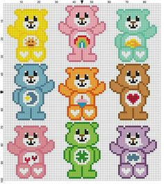 31 ideas knitting charts patterns stitches perler beads for 2019 Crochet Pixel, Crochet Bear, C2c Crochet, Crochet Stitches, Hama Beads Patterns, Beading Patterns, Crochet Patterns, Knitting Patterns, Afghan Patterns