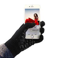 c388ddd9ecd615 Winterhandschuhe warme Handschuhe, Parsion Touchscreen Handschuhe Wildleder  Bankett Radfahren Motorradfahren Innen Outdoor Trend Schwarz