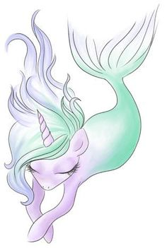 Mermaid unicorn art