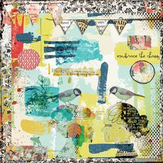 https://flic.kr/p/SXVmyw | CHAOS | For a 1+1 challenge at Oscraps. Two: papers, page borders, banners, heads, birds, circles, stamps, brushes, washi tapes, & word arts. Elements from Lynn Grieveson, Anna Aspnes, Courtney's Design, Maya, Vicki Stegall, Angie Young, NBK Design, and Pinkadoo. #artjournal #digitalartjournaling #digitalart