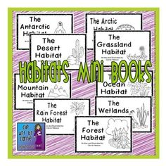 This zip file contains a set of 9 emergent readers on the following habitats:oceanforestmountaindesertwetlandsarcticantarcticrain forestgrasslandEach book is about 12 pages long and includes a few dominant characteristics of each habitat as well as a few animals that live in each habitat.