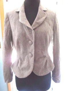 Ann Taylor Wool Womens Brown Blazer Jacket Size 8 2 Button #AnnTaylor #Blazer