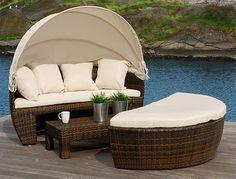 Luxury Day Bed - unikt hagemøbelsett i stilren design.