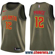 2e5fc139579 Nike Hawks  12 Taurean Prince Green Salute to Service NBA Swingman Jersey  Kent Bazemore