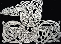 Old Norse Tattoo Designs Celtic tattoo by tattoo-design Norse Mythology Tattoo, Norse Tattoo, Celtic Tattoos, Viking Tattoos, Celtic Dragon, Celtic Art, Viking Dragon, Celtic Patterns, Celtic Designs