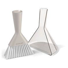 Check out this item at One Kings Lane! Dust Pan & Brush Set, Gray