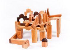 Wooden Blocks Waldorf Wooden Toddler Toy by asummerafternoon