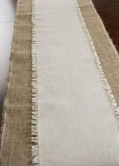 Fringed Edge Linen Table Runner 108in on top of Jute Table Runner | Love this look!