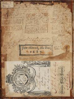John Hancock's Commonplace Book, 1687 // shouldn't we all have a commonplace book? Mix Media, Commonplace Book, Artist Sketchbook, Scrapbook, Collage, Handmade Books, Antique Books, Mail Art, Book Making
