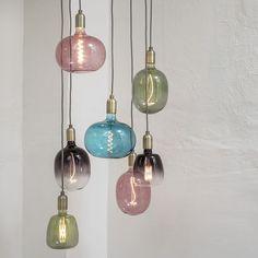 Suspension Vintage, Kitchen Lamps, Led Lamp, Blue Sapphire, Emerald Green, Living Spaces, Room Decor, House Design, Ceiling Lights