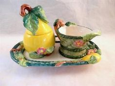 Villeroy & Boch Basket Creamer and Sugar Bowl with Tray - Beautiful little trinkets for your home kitchen :) #LadyLindasLoft