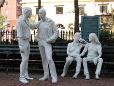 """""""Gay Liberation"""" by George Segal, Christopher Park, Sheridan Square, West Village, New York"""
