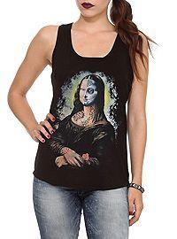 HOTTOPIC.COM - Muertos Mona Lisa Girls Tank Top 2XL