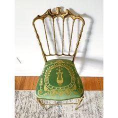 1950s Vintage Italian Polished Brass Chiavari Chair | Chairish Dawn And Dusk, Chiavari Chairs, Classic Home Decor, Antique Chairs, Vintage Italian, Polished Brass, Vintage Antiques, Art Nouveau, 1950s