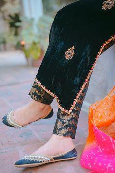 Bridle Dress, Velvet Dress Designs, Punjabi Dress, Hand Work Embroidery, Stylish Dresses For Girls, Blouse Models, Kurti Designs Party Wear, Bridal Lehenga, Black Fabric