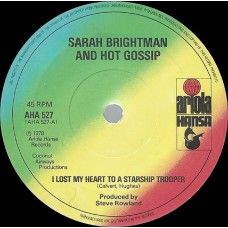 """7"""" 45RPM I Lost My Heart To A Starship Trooper/Do, Do, Do by Sarah Brightman And Hot Gossip from Ariola Hansa (AHA 527)"""