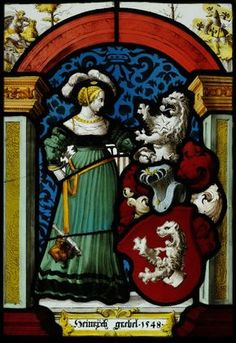 Coat of arms of the Zurich captain Heinrich Grebel, stained glass, 1548, Zurich. Germanisches Nationalmuseum accession no. MM263