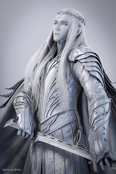 Thranduil - the Elvenking of Mirkwood by Helena Shin  Image breakdown   http://helenashin.cgsociety.org/art/thranduil-vray-elf-zbrush-tolkien-3ds-fanart-max-photoshop-bodypaint-elvenking-mirkwood-fan-art-3d-1337623