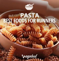 Pasta is one of the most carbohydrate-dense foods, making it a great food to eat before big workouts and races, when you want to maximize muscle glycogen stores, and after big workouts, when you want to replenish those stores.   #nutrition   #nutritiontips