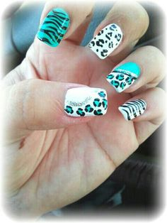 Teal stripes and cheetah spots
