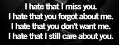 I hate all of the above but most of all I hate that I still love you.