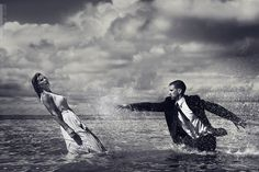 """You've just got to love emotion-packed, storytelling photos like this. Today's Pic of the Day is by Tavis Glover of Ipox Studios and it's called My Life for Yours. """"The story behind My Life for Yours comes from a quick sketch I did in order to take advantage of a boat ride to a place called Sand Bar here in Hawaii,"""" Glover tells us. """"It's in the middle of the ocean but only a few feet deep. It was my sister and brother-in-law's 15th anniversary and I wanted to take an amazing picture of them…"""