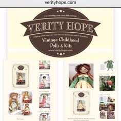 Did you know I have a blog about the Verity Hope dolls? Here's a screenshot do come and visit VERITYHOPE.com.  ##verityhopesworld #dollmaking #dollmakers