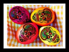 Mexican Fiesta Cascarones y Calaveras  Confetti Eggs