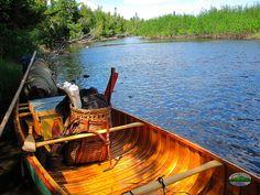 Wooden Canoe, Loaded For Travel by Jack Mountain Bushcraft School, via Flickr