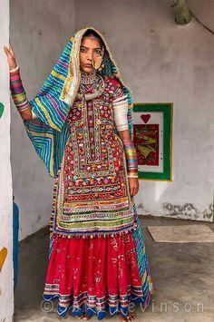 Young woman from Meghwal tribe, Bhirendyara village, Gujarat, India.