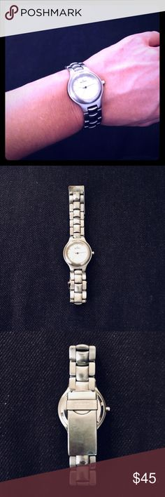 Skagen Aktiv Women's Stainless Steel Watch Skagen stainless steel, water resistant, with ultra slim Japan quartz. In excellent condition! Skagen Accessories Watches