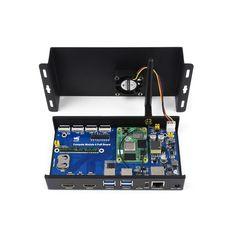 Compute Module 4 Mini Computer mit PoE 802.3af, 2x Kamera Zugang, RTC, 7-36V Eingangsstrom und Gigabit Ethernet. Compute Module 4 Mini Computer mit PoE