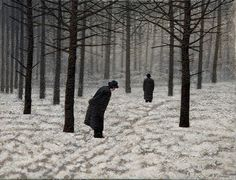 Mark Edwards. Waiting-for-the-decision-50x65cm