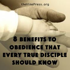 If we are serious about following Jesus, we do not need to try harder or feel guilty when we don't seem to cut it. http://thevinepress.org/8-benefits-obedience-true-disciples/