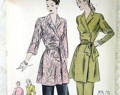 Margot on Etsy Retro Pattern, Vintage Sewing Patterns, Sarong Dress, Jacket Pins, Swing Coats, Halter Crop Top, Vintage Coat, Princess Seam, Ball Gowns