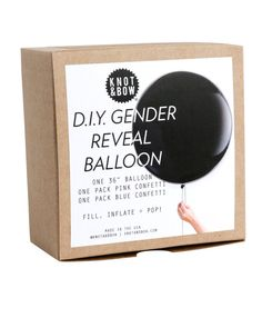 D.I.Y. Gender Reveal Confetti Balloon
