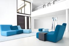 Confluences by Philippe Nigro  - This multiple award-winning sofa collection stands out with its creativity and playfulness. The asymmetrical and interlocked design affords different seating options, pleasing lovers of unique style and comfort alike.