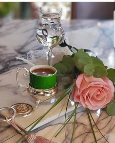 """Coffe with rose pink So beauty""""Queen"""