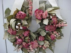 Peony Wreath    Natural Wreath   Hand Crafted by donnahubbard, $50.00