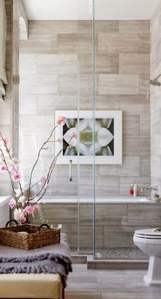 art hanging in the shower