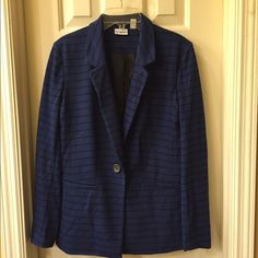 Kim Rogers NWT blazer size S NWT blazer has a 1 button closure and front faux pocket detail Size S tag attached no flaws Kim Rogers Jackets & Coats Blazers