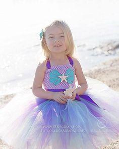 3ee6d10ad Customizable Mermaid Tutu Dress Mermaid Dress Birthday Party Birthday Outfit  Cake Smash Under The Sea Starfish Halloween Baby Infant Toddler