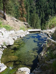 Idaho has more soakable hot springs than any other state. Skinny Dipper Hot Springs, pictured here, is a short hour drive from Boise. Idaho Hot Springs, Skinny Dippers, Thing 1, Vacation Spots, Travel Usa, The Great Outdoors, Places To See, Nature, Beautiful Places