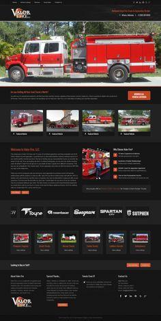 Custom #Joomla 3 #Template for Valor Fire, LLC in Athens, Alabama. Built with #Bootstrap #responsive framework. #fire #usedvehicles #webdesign #theme #business #corporate #darktheme