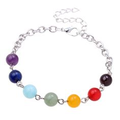 Natural Stone Adjustable Beads Crystal Chakra Bracelet Women Rope Chains Charms Bracelet Bangle Mother's day gift