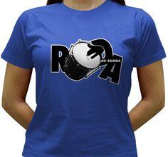 Camiseta para quem curte samba ou gosta do instrumento cuíca e quer uma camiseta diferente.