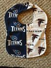 Tennessee Titans / Atlanta Falcons Rival Baby Bib NFL House Divided - http://baby.goshoppins.com/feeding/tennessee-titans-atlanta-falcons-rival-baby-bib-nfl-house-divided/