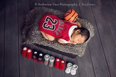 Inspiration For New Born Baby Photography : Jordan 23 newborn photo idea. - List of the most beautiful baby products Baby Boy Photos, Cute Baby Pictures, Newborn Pictures, Jordan Baby Shower, Basketball Baby Shower, Basketball Nursery, Basketball Baby Pictures, Newborn Baby Photography, Newborn Photographer